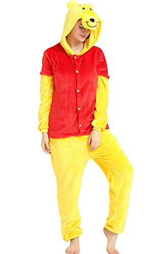 ANIMAL PJS Pijama de Animales, Disfraz de Winnie The Pooh de Animales, Unisex