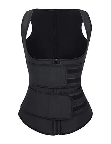 FeelinGirl Damen Latex Unterbrust Training Cincher Workout Taille Trainer Korsett - - XXX-Large (Shorts Womens Workout Plus)