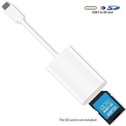 USB C SD-Kartenleser, HUIRID USB Typ C auf SD-Kartenleser, Adapter kompatibel mit 2018 iPad Pro, Google Pixel 3/2/XL (nur Import Nicht Ausgang) (Wifi-sd-kartenleser Kamera Für)