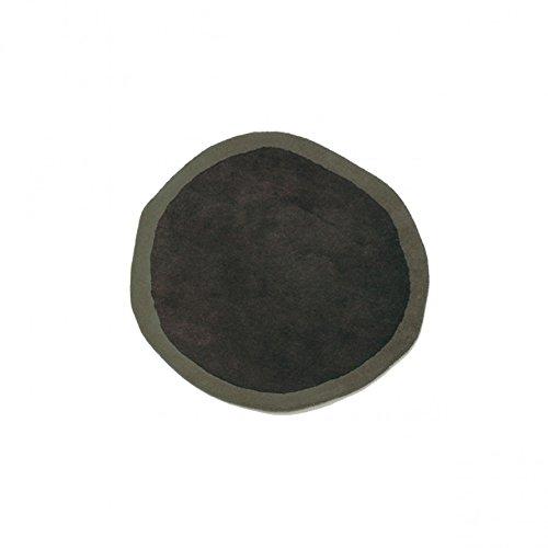 Aros Round Teppich ø 100 cm - grau/grün