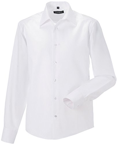 Russell Collection - Chemise homme coupe moderne sans repassage Russel white