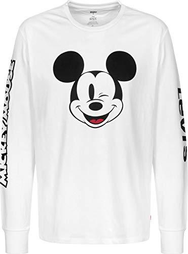 T-Shirt Levis Graphic Mickey White Hommes M Blanc