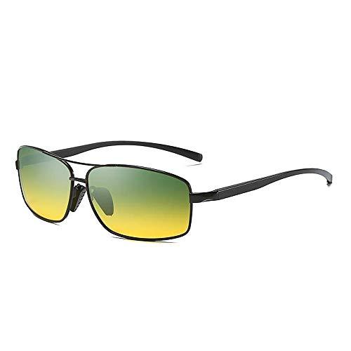 Easy Go Shopping Polarisierte Linse Wellington Sonnenbrillen Tasche Cross Set UnisexSonnenbrille Brille Sonnenbrillen und Flacher Spiegel (Color : Black+Green, Size : Kostenlos)