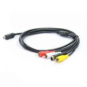 Audio Video Composite Kabel VMC-15FS / VMC-30FS für Sony Handycam Videokabel Video Kabel - Handycam Audio