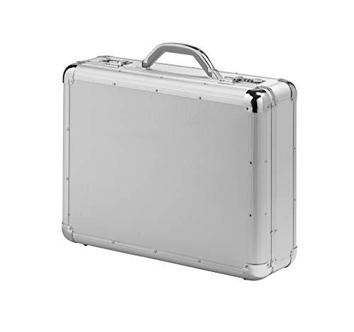 Falcon FI2992 Executive Aktentasche Aktenkoffer, Aluminium, strapazierfähig, groß, Aluminium, Ø, Silber -