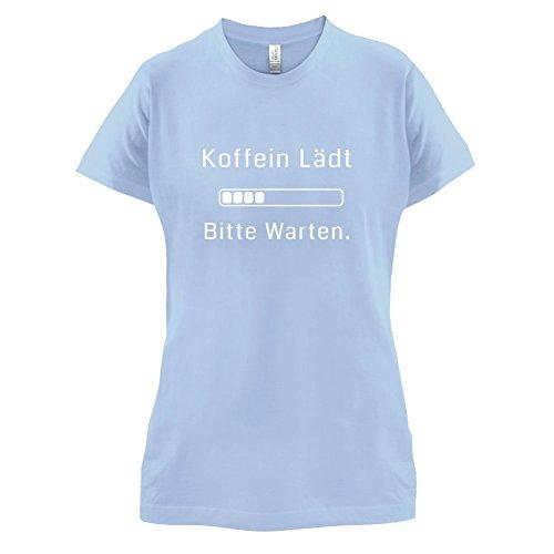 Koffein lädt, bitte warten! - Damen T-Shirt - 14 Farben Himmelblau