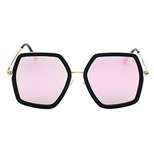 iCerber UV400 Sonnenbrillen, Unisex Sonnenbrillen übergroße Fassung Metallrahmen Sonnenbrille für Damen Herren Picknick-Sonnenbrille am Strand im Freien - verschiede Farben verspiegelte Gläser