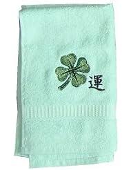Handtuch aus Frottee mit Bestickung Kleeblatt