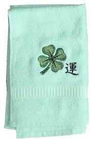 Bath Towel with Embroidery cloverleaf