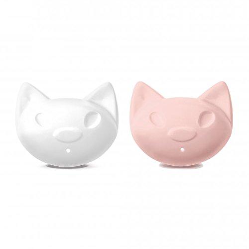 Koziol Miaou pink, weiß Salt & Pepper Shaker Set (Salt Pink Shaker)
