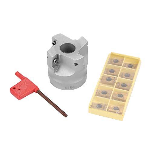 Jadeshay BAP400R-50-22-4F CNC Planfräser + 10 Stücke APMT1604 Hartmetalleinsätze + T15-Schlüssel