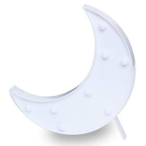 Don Letra - Lámparas Decorativas de Luna Decoración Iluminación Lámpara de Mesa...