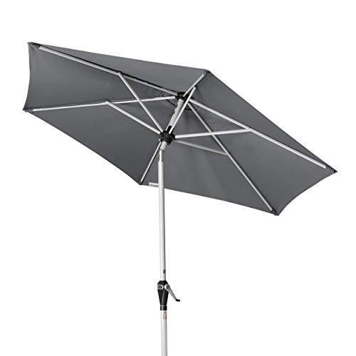 Doppler Active Auto Tilt 210 - Kurbel Sonnenschirm ideal für den Balkon - Regenabweisend - ca. 210 cm - Anthrazit