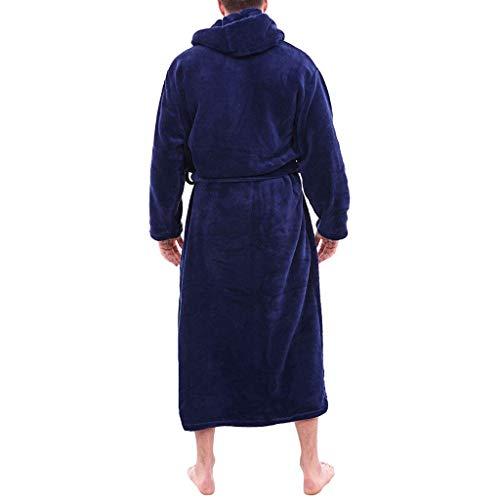 Pyjama Homme Polaire Robe Peignoir Pas Cher Personnalisé Robe Chambre Longue Hiver De Manteau Long De Coralline d'hiver Allongé par Unisexe Ro