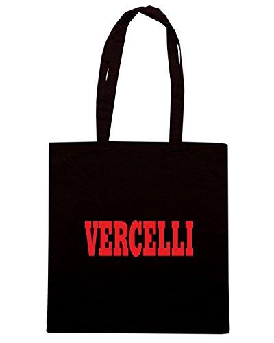 T-Shirtshock - Borsa Shopping WC0894 VERCELLI ITALIA CITTA STEMMA LOGO Nero