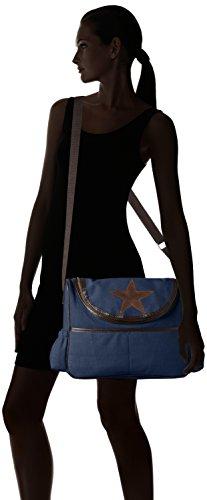 Bags4Less Damen Wickeltasche Umhängetasche, 30x34x44 cm Blau (Canvas-Navyblau)