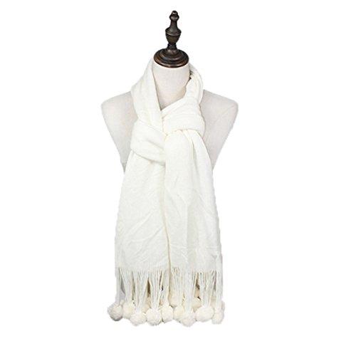 L'automne Et L'hiver Chaud épaissir Mlle Mao Maoqiu Foulards Châle Sauvage white