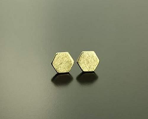 Ohrstecker Hexagon Sechseck geometrisch golden Ohrringe Stecker