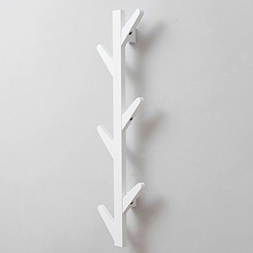 Moderne Holz Türen (LFF- Wand-Aufhänger Wohnzimmer Schlafzimmer Wand Kleiderbügel Kleiderhaken Hinter der Tür Einfache Moderne Holz Kleiderständer (Farbe : Weiß, größe : A))