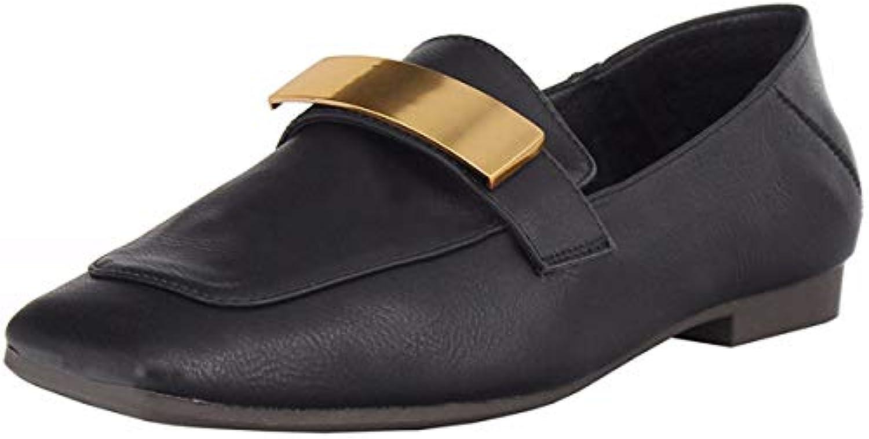 KOKQSX-rétro Square décontracté métal Buckle mis Le Pied Seule Chaussure  des des Chaussure Chaussures bc28950c9e8