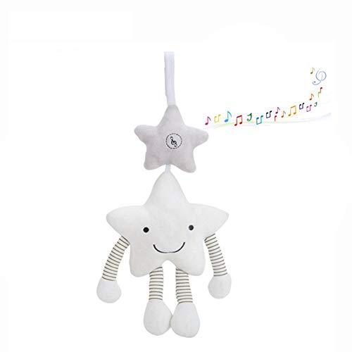 Naughty baby Musical Baby Spielzeug Plüschtiere Gefüllte Baby Spielzeug Baby Rasseln Hängen Bett Kinderwagen Stern Beißring Rassel Naughty Sterne