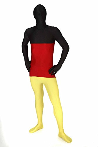 Morphsuits MFGEX - Tuta integrale per travestimento Germania, Nero/Rosso/Giallo, XL