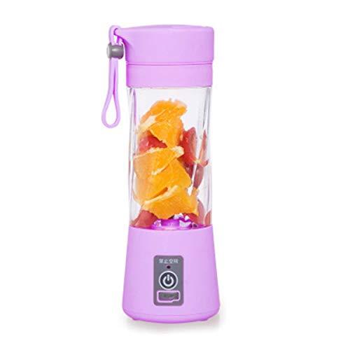 Máquina exprimidora de frutas eléctrica portátil Licuadora Smoothie Maker USB Exprimidor multifunción...