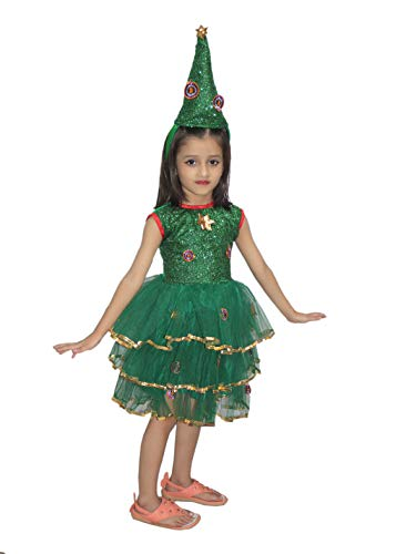 Kaku Fancy Dresses Christmas Tree Girl Costume for Christmas Days School Annual Function/Theme Party/Competition/Stage Shows/Birthday Party Dress