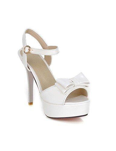 UWSZZ IL Sandali eleganti comfort DONNE - Sandali - Plateau/Sandalo - Stiletto Vernice - Nero/Rosa/Bianco/Beige beige
