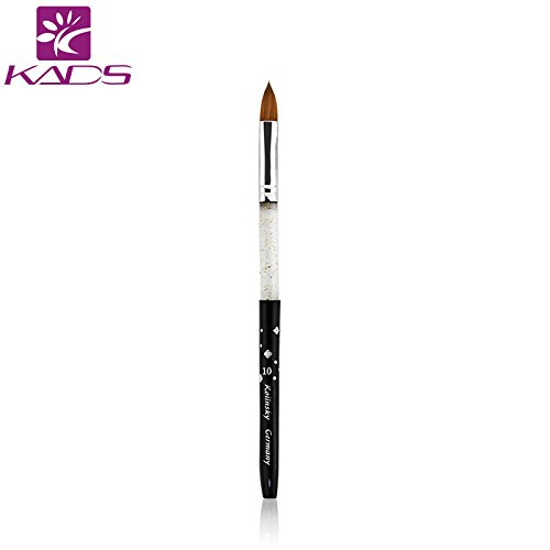 KADS Size 2#,6#,8#,10# kolinsky sable acrylic nail brush black 100% Kolinsky Sable Brush Professional acrylic brush (10#) (Pinsel Kolinsky Nagel Acryl)