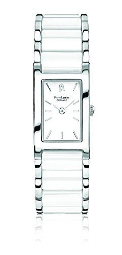 wristwatch pierre lannier watches mod. ceramic - stainless steel - 19x25 mm - 5 atm 055l900