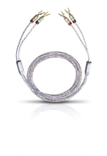 Oehlbach Twin Mix Two 300 | Lautsprecherkabel-Set versilbert 2 x 6,0 mm², mit Kabelschuh-Verbinder | Made in Germany | 2 x 3 m - glasklar -