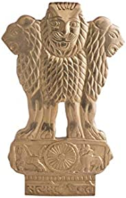 AONA Ashoka Stambh in Brass Emblem Sculpture Home/Office Showpiece (H - 9 Inches)