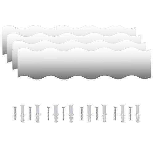VidaXL 4X Espejos Pared Vidrio Ondulado