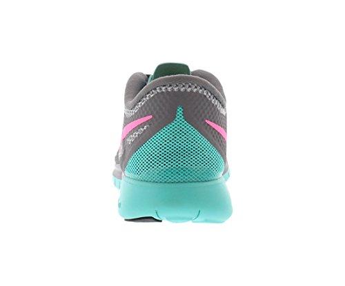 Nike Free 5.0, Chaussures de Running Femme Cool Grey/Hyper Pink/Hyper Jade
