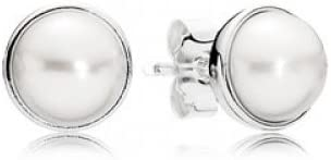 Pandora–Pendientes para mujer 925plata perla color Blanco–290727p