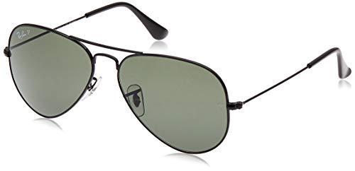Ray-ban - aviator, occhiali da sole, nero (schwarz 002/58), 58 mm
