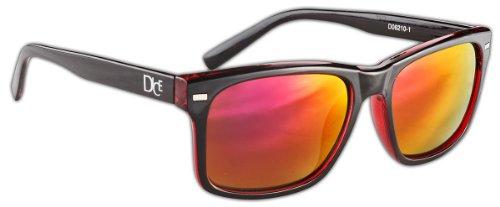 Dice Unisex Sonnenbrille, shiny black/transparent red, one size, D06210-1