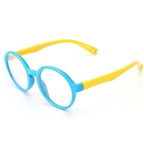 HJXJXJX Kinderbrillen Männer Rahmen Glasrahmen Silikon-Material Spiegel Tochter Tong Pingguang , F