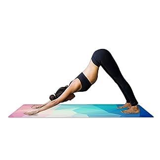 YISHU Mandala–Esterilla de Yoga con Bolsa 1,5mm de Grosor Suave Ligero Plegable Antideslizante de Caucho Natural Travel Fitness Gimnasia Outdoor Sport 180x 68cm
