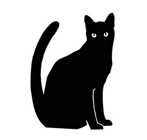 9,2 * 12,7 CM Katze Silhouette Vinyl Aufkleber Persönlichkeit Lustige Tier Fenster Dekoration Auto Aufkleber/3PCS (Machen Halloween Fenster Silhouetten)