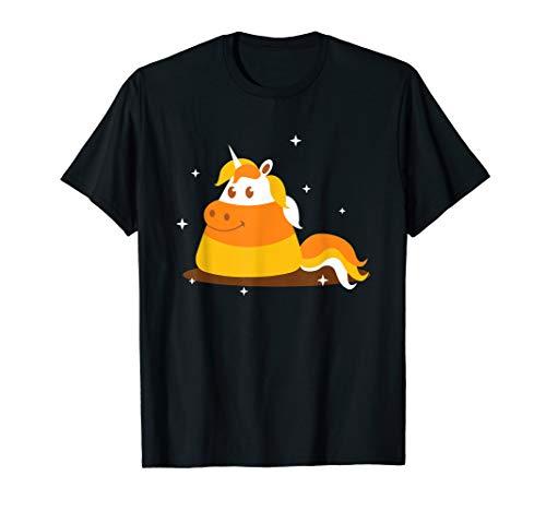 Candy Corn Kostüm Süße - Candy Corn Unicorn Süß Einhorn Süßigkeiten Halloween Kostüm T-Shirt