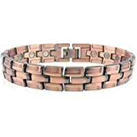 Herren Unisex schwer Kupfer Magnet Armband Verschluss 20 leistungsstark Magnete Arthritis 5000 Gauß preisvergleich bei billige-tabletten.eu