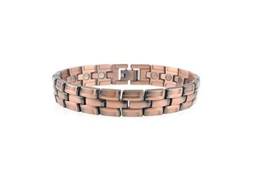 Herren Unisex schwer Kupfer Magnet Armband Verschluss 20 leistungsstark Magnete Arthritis 5000 Gauß