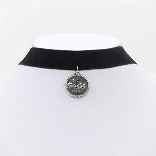 SXXDLL Schmuck Durchbrochene Spitze Blume Kragen Flanell Ribbon Ribbon Bell Starfish Halskette (Bottle Halskette Cap)