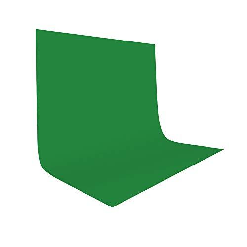 UTEBIT Greenscreen Tuch 2x3M/6.5x9ft Photography Faltbare Fotostudio Grün Hintergrund Tuch Backdrop Background Green für Filmschießen Hintergrundrahmen,Fotografie-Video - 2 X Stoff
