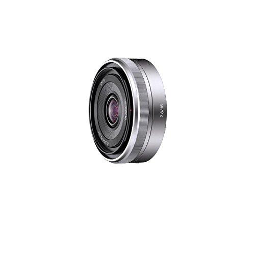 Sony SEL16F28 Obiettivo Grandangolare con focale fissa E 16 mm F2.8, Argento
