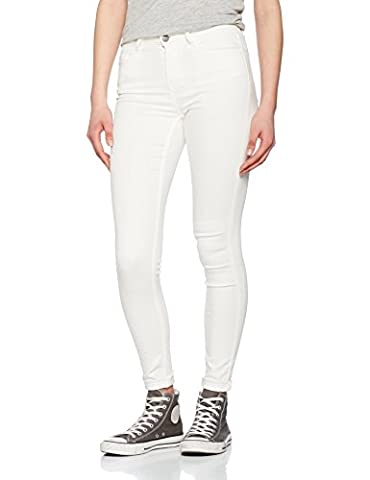 PIECES Damen Jeanshose Pcfive Betty Jeggings Bwhi/Noos Weiß (Bright White Bright White), 36 (Herstellergröße: S)