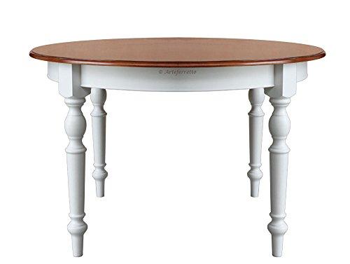 Runder Tisch zweifarbig 120 cm