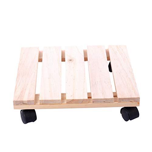 Ounona, carrello per piante con ruote girevoli per interni ed esterni, 25x 25cm